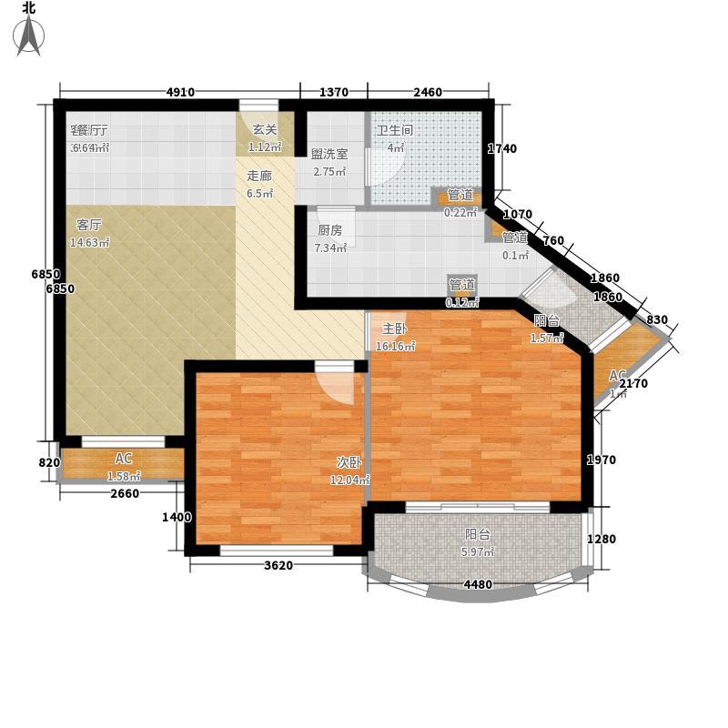 碧玉家园一期二室一厅一卫-90.85-96.24平米户型