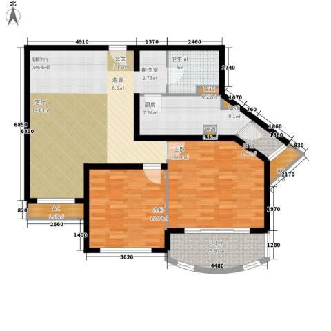 碧玉家园一期2室1厅1卫1厨117.00㎡户型图