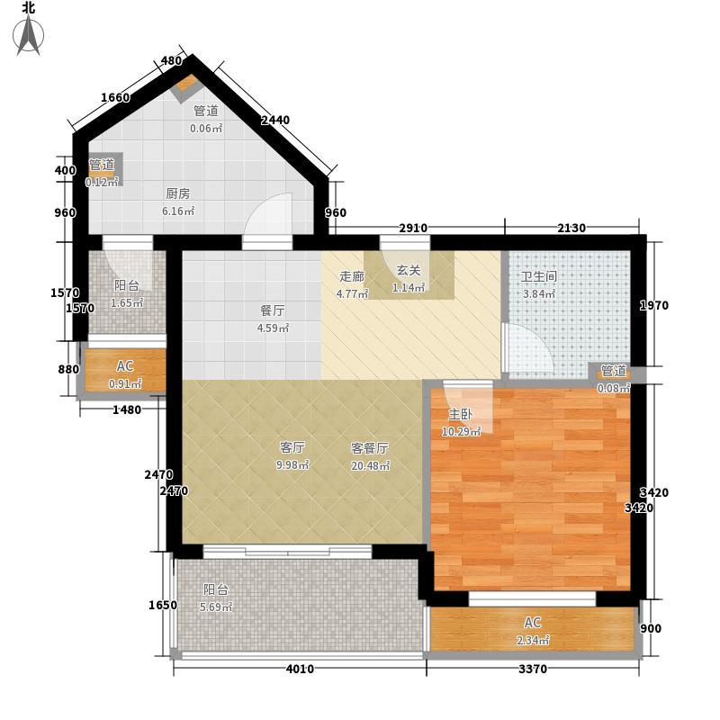 碧玉家园一期一室一厅一卫-60.14-64.54平米户型