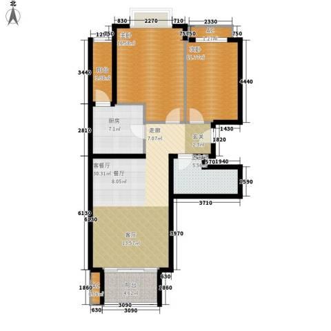 碧玉家园一期2室1厅1卫1厨116.00㎡户型图