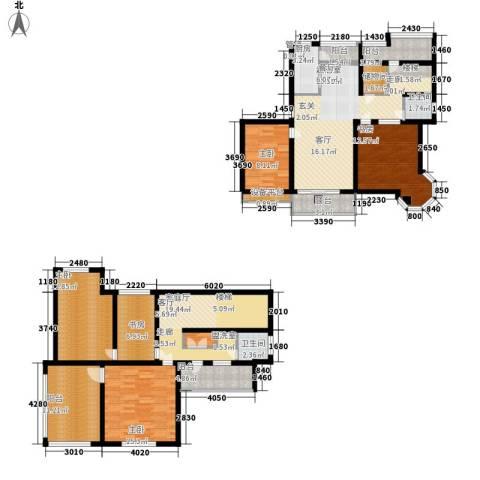 东方塞纳5室0厅2卫1厨156.00㎡户型图