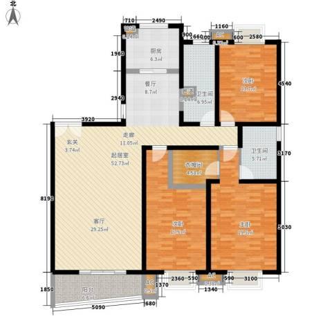 中天汇丽华城3室0厅2卫1厨185.00㎡户型图