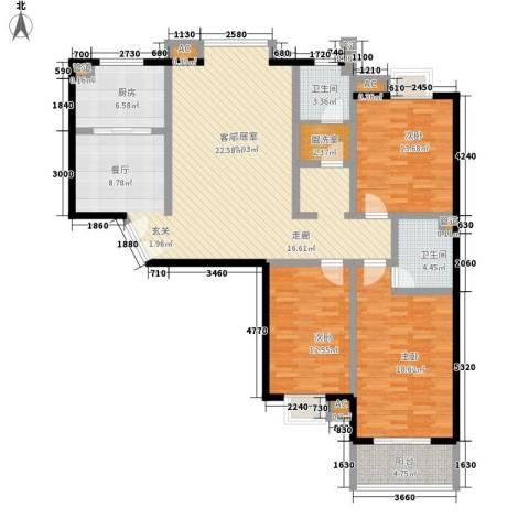 中天汇丽华城3室0厅2卫1厨171.00㎡户型图