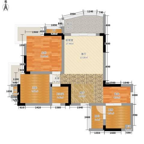 水务龙城天都2室0厅1卫1厨67.00㎡户型图