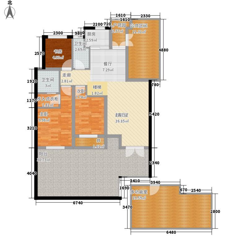御溪半岛143.00㎡电梯花园洋房1层户型
