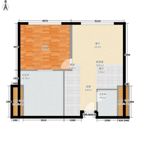 天津中心1室0厅2卫0厨93.00㎡户型图