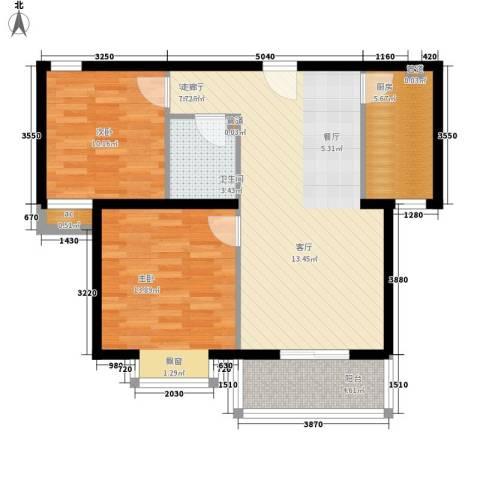雅逸新城2室1厅1卫1厨89.00㎡户型图