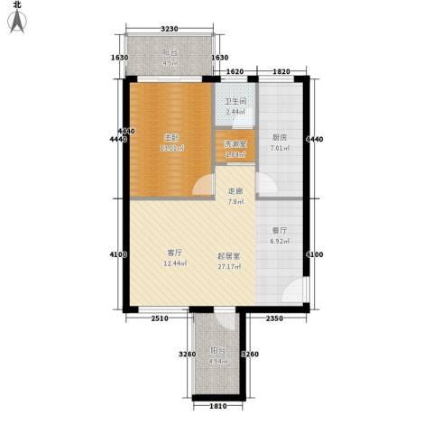 三城花苑1室0厅1卫1厨68.00㎡户型图