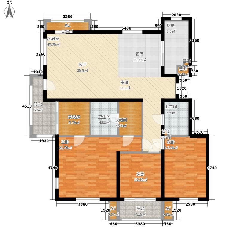 三箭汇福山庄154.00㎡5号楼 三室两厅两卫户型3室2厅2卫