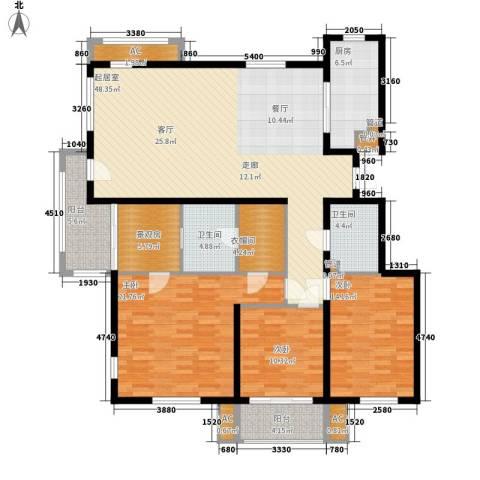 三箭汇福山庄3室0厅2卫1厨154.00㎡户型图