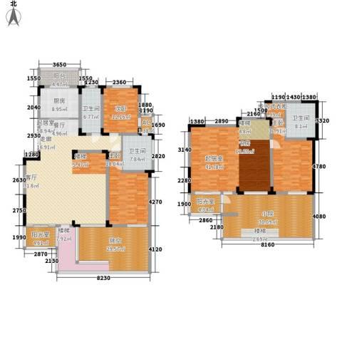 第六田园3室0厅3卫1厨256.96㎡户型图
