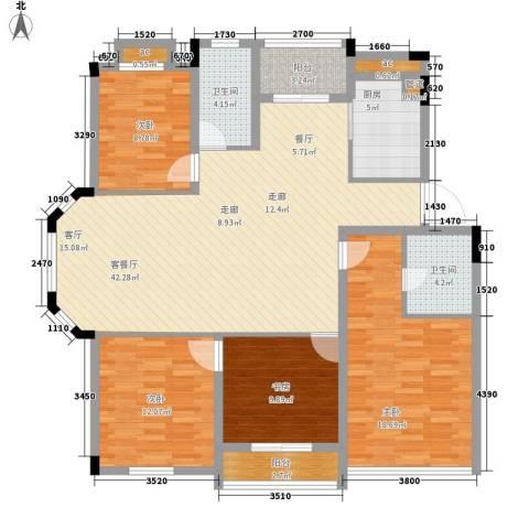 沧海御庭4室1厅2卫1厨160.00㎡户型图