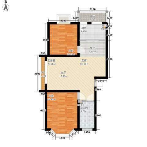 君悦上城2室0厅1卫1厨90.00㎡户型图