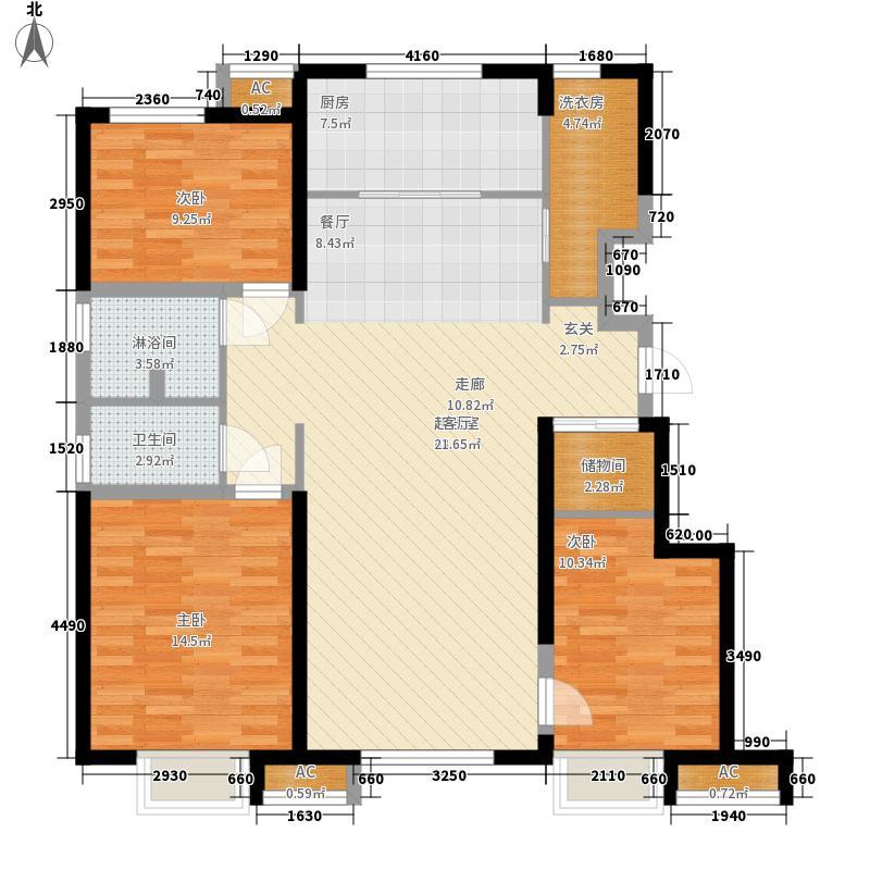 万科金域华府115.00㎡洋房标准层B户型2室2厅