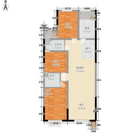 五岭新天地二期 天一华府3室0厅2卫1厨140.00㎡户型图