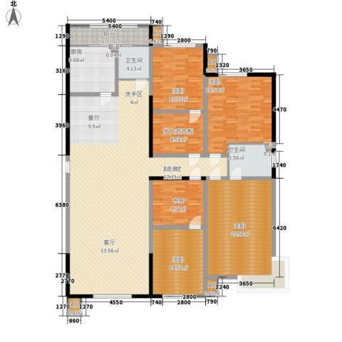 五岭新天地二期 天一华府5室0厅2卫1厨215.00㎡户型图