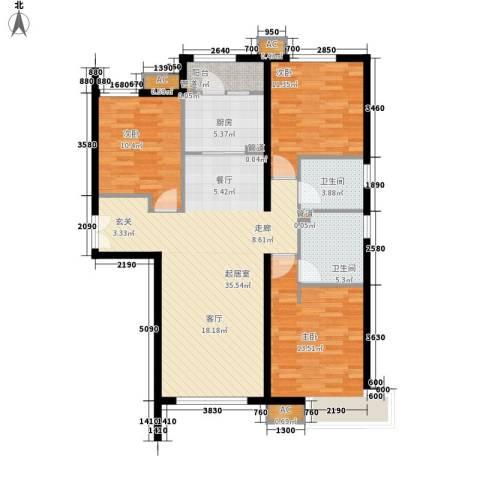 富力城3室0厅2卫1厨126.00㎡户型图