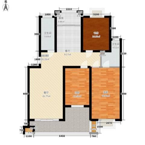 君悦上城3室0厅2卫1厨126.00㎡户型图