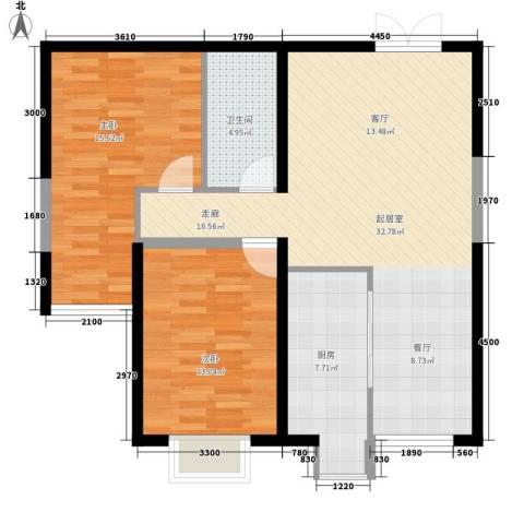 公交五公司家属院2室0厅1卫1厨104.00㎡户型图