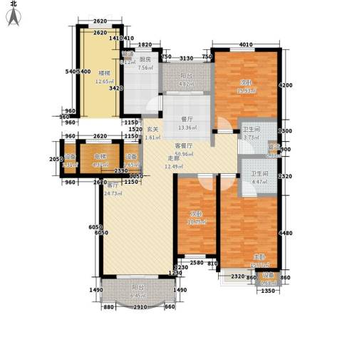 华浮宫桂园3室1厅2卫1厨179.00㎡户型图