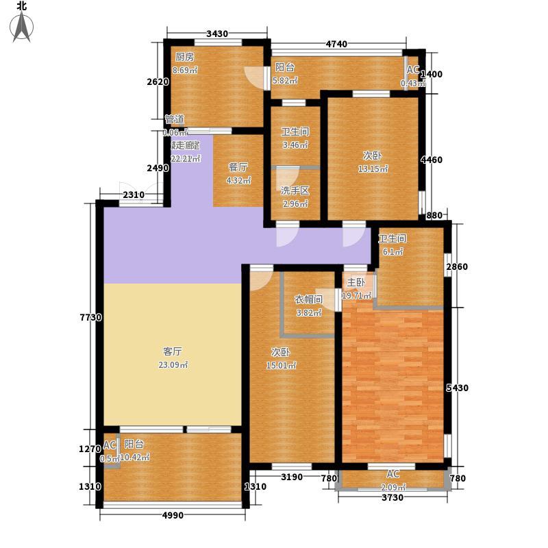 三箭汇福山庄162.00㎡22号楼花园洋房 三室两厅两卫户型3室2厅2卫