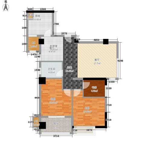 永鸿御景湾3室0厅1卫1厨121.00㎡户型图