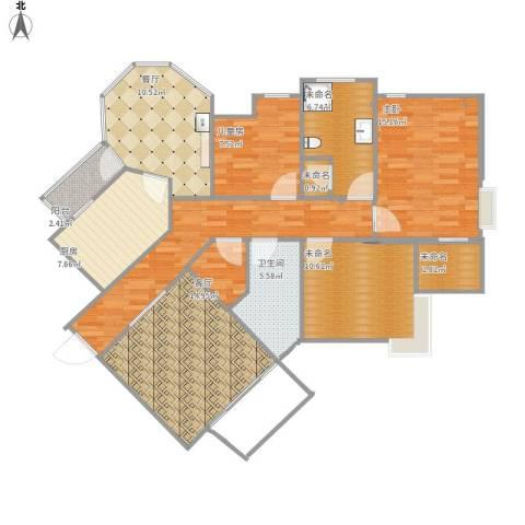 青山绿庭2室2厅1卫1厨136.00㎡户型图