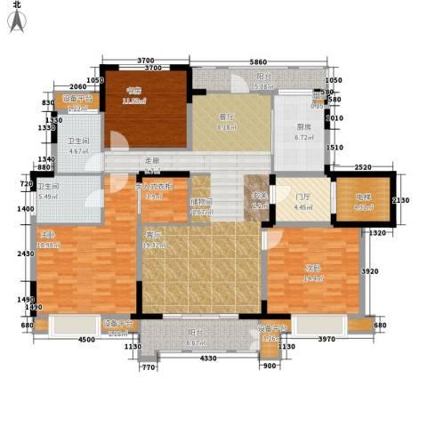 华润橡树湾3室0厅2卫1厨143.00㎡户型图