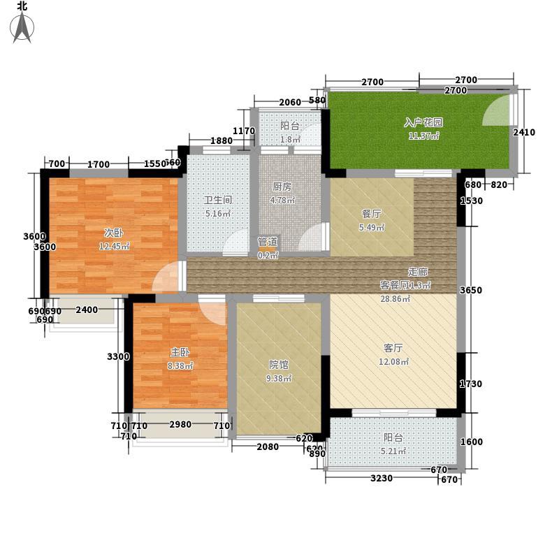 隆鑫国际84.09㎡(二期)1栋2号房面积8409m户型