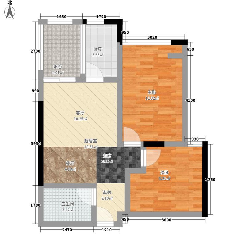 长安大街3号4号楼G-01-12户型2室2厅