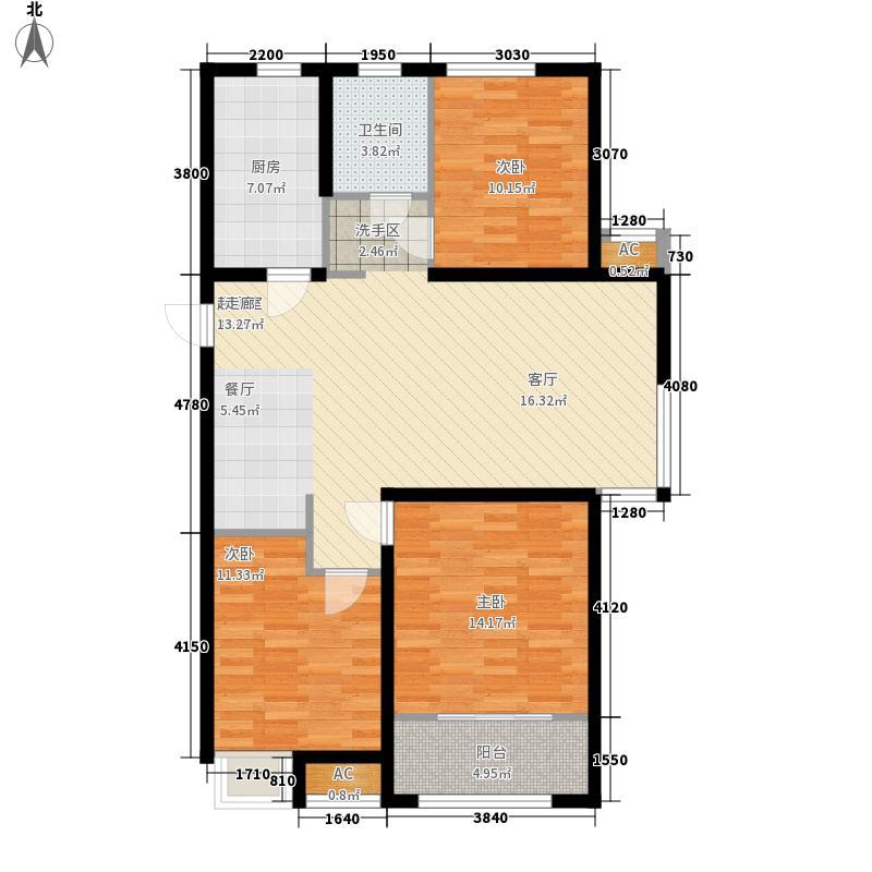 中建新悦城102.00㎡D1户型3室2厅