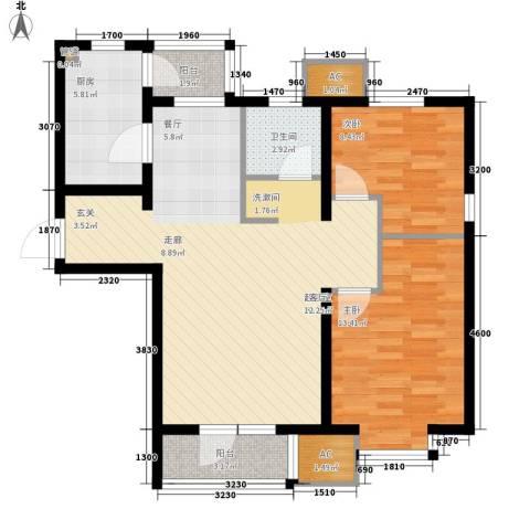 渤海天易园2室0厅1卫1厨94.00㎡户型图