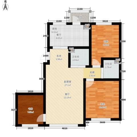 像素公园3室0厅2卫1厨106.00㎡户型图