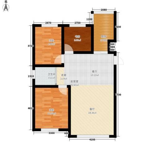 像素公园3室0厅1卫1厨97.00㎡户型图