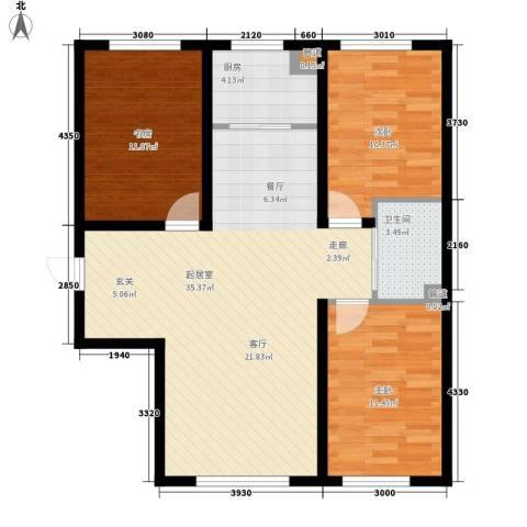 像素公园3室0厅1卫1厨114.00㎡户型图