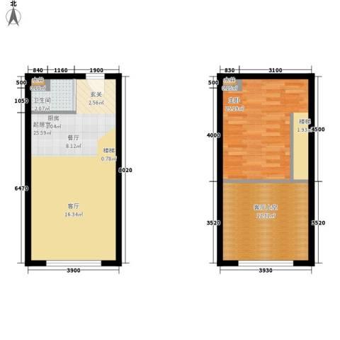 像素公园1室0厅1卫0厨55.47㎡户型图