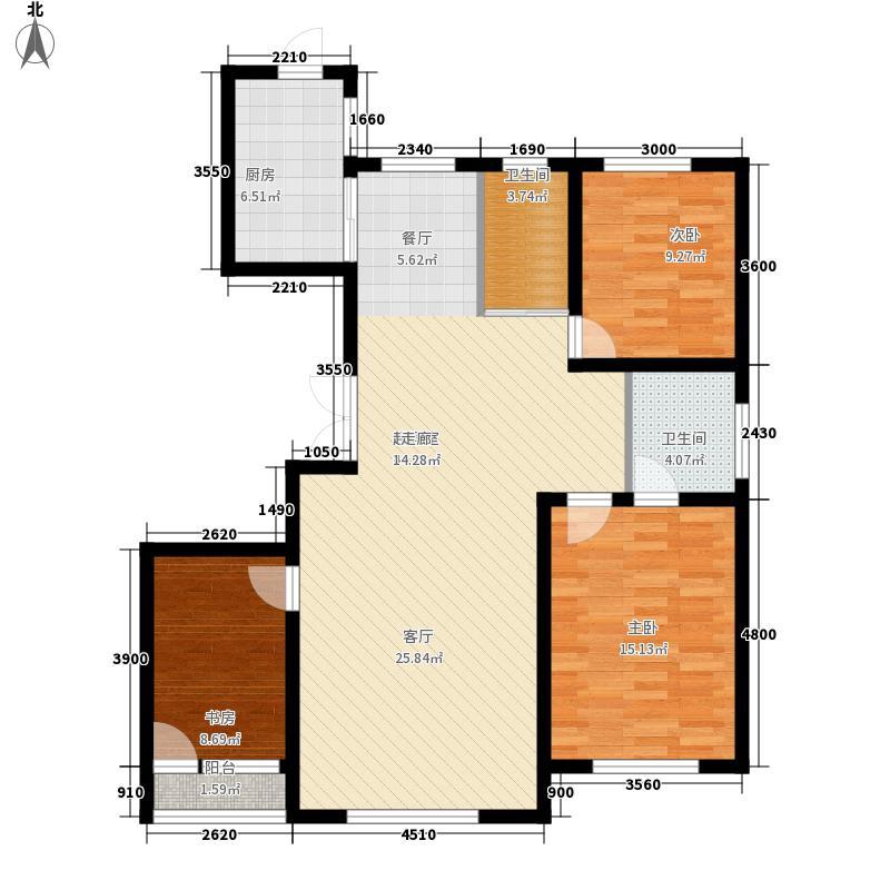 像素公园140.00㎡D2户型3室2厅