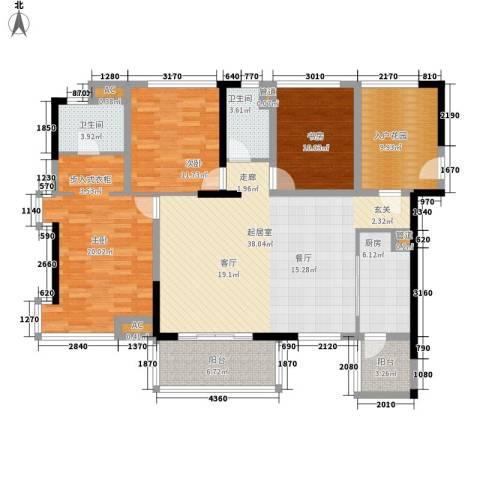 丁家新村3室0厅2卫1厨131.45㎡户型图
