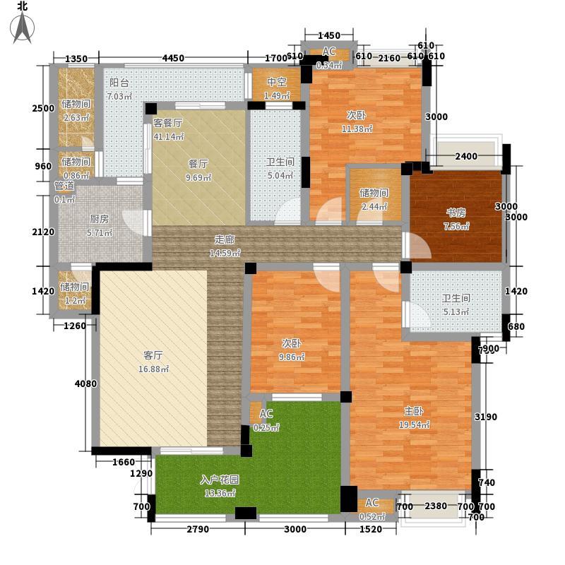 金辉融侨城144.88㎡一期A区14、15、17号楼C2标准层户型