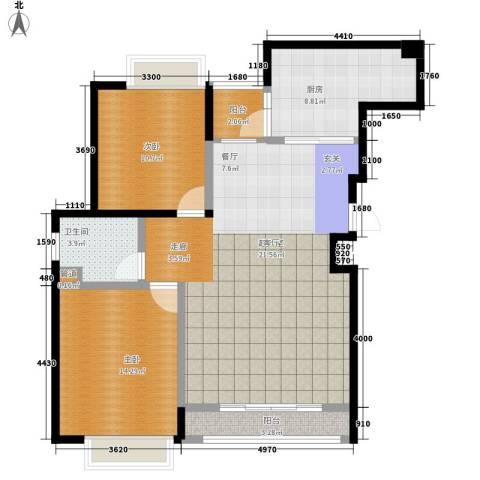 新吴楼2室0厅1卫1厨112.00㎡户型图