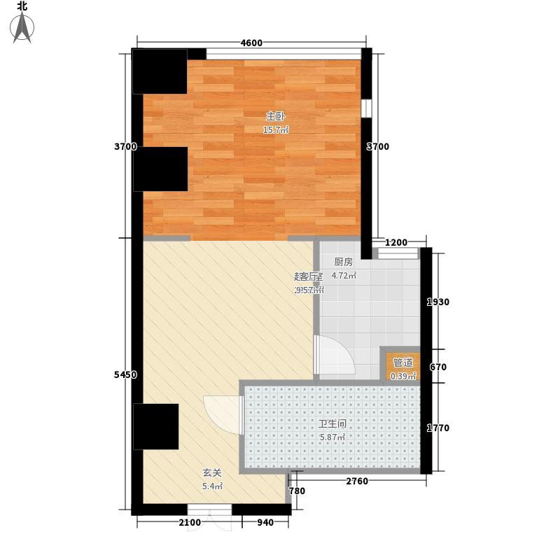 融创奥城天玺60.94㎡二期高层23号楼标准层B户型