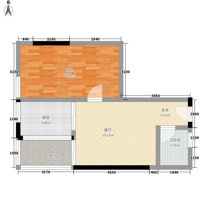 长安大街3号57.18㎡户型1室1厅
