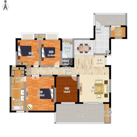 天府欣苑4室1厅1卫1厨238.00㎡户型图