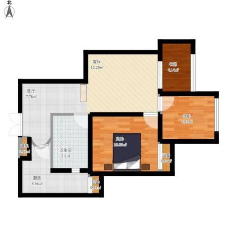 金辉悦府3室1厅1卫1厨82.00㎡户型图