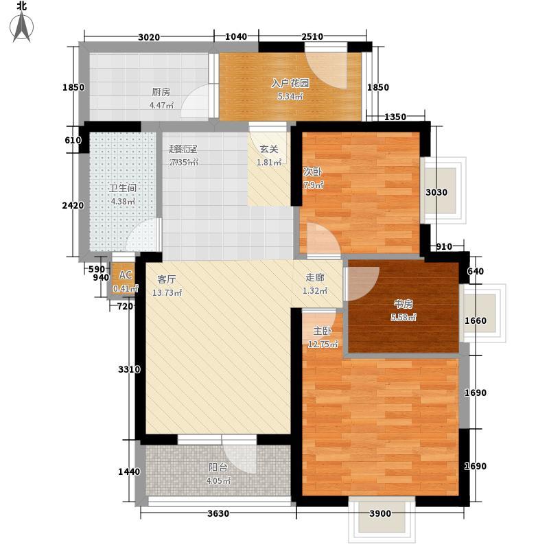 龙源映象91.00㎡3#/4#A3户型3室2厅