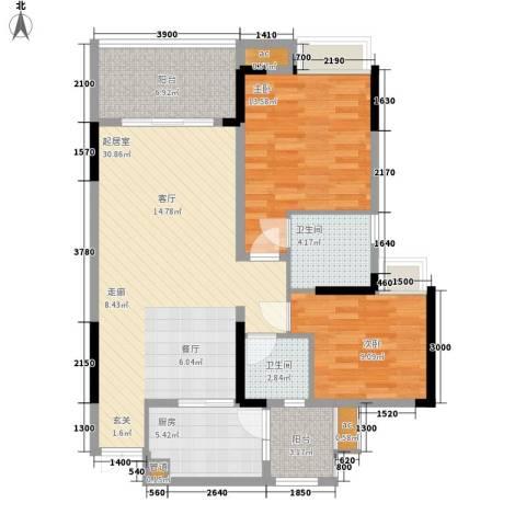 鲁能星城九街区2室0厅2卫1厨110.00㎡户型图