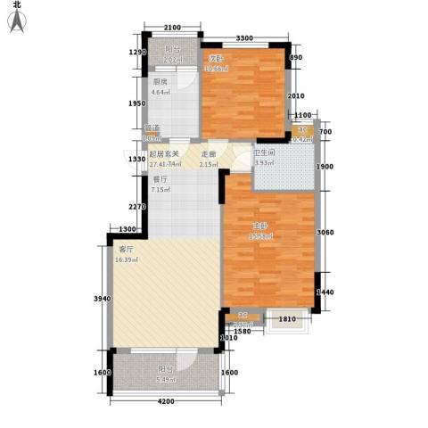 阳明里2室0厅1卫1厨70.63㎡户型图