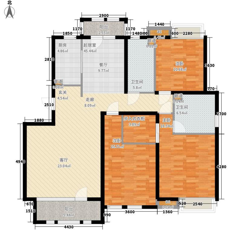 泰达御海152.00㎡洋房9、10号楼标准层A2户型