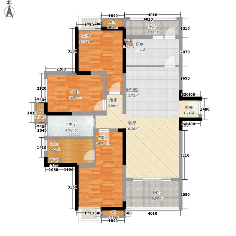 重庆总部城一期G2栋标准层B1户型