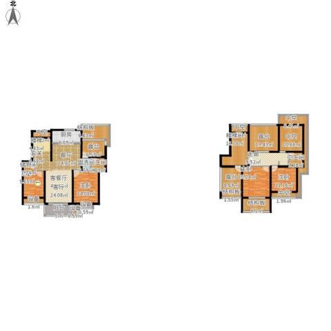 天元吉第城4室1厅2卫1厨303.00㎡户型图
